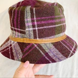 Coach Black Watch Tartan Purple Plaid Bucket Hat
